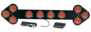 SHO-ME Traffic Guide Amber Arrow Board with Shock Mounted Lamps