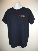 "T-Shirt, Firefighter ""CANADIAN FIREFIGHTER"", w/ Red Maple Leaf - Limited Sizes Available"
