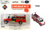 Boley International Red/Wht 4300 2-Axle Commercial Pumper HO Scale 1/87 (SKU: B-4124-17)