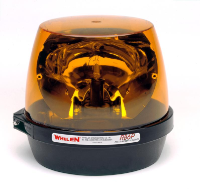 WHELEN RB6 Rota-Beam Rotating Amber Halogen Beacon, Perm. Mount (SKU: RB6PAP)