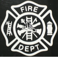 Fire Fighter Maltese Cross, Vinyl (SKU: 1110)