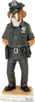 8'' Police Dog Figurine (SKU: 0901B)