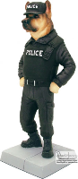 8'' Police Dog Figurine (SKU: 0901C)