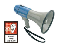 SHO-ME Megaphone with Built-in Siren (SKU: 19-0155)