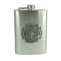 8oz Fire Fighter Flask (SKU: 938)