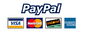 Pay securely with any major credit card or bank account through PayPal.